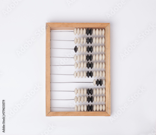 abacus scores isolated on white background Canvas Print