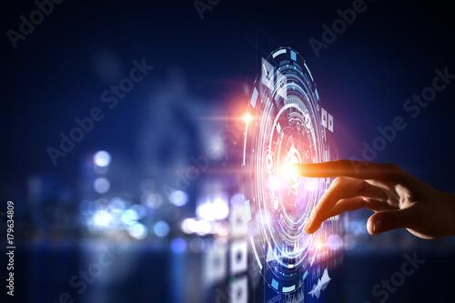 Fototapeta Creating innovative technologies . Mixed media obraz