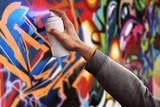 Fototapeta Teenage - Graffiti artist