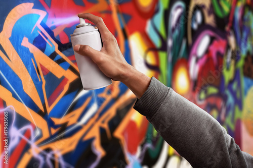 Photo  Graffiti artist