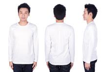 Man In White Long Sleeve T-shi...