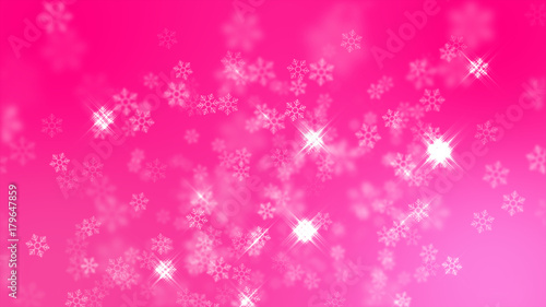 pink snowflakes background happy new year celebration