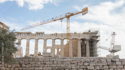 Plakat Rekonstrukcja starożytnego Partenonu