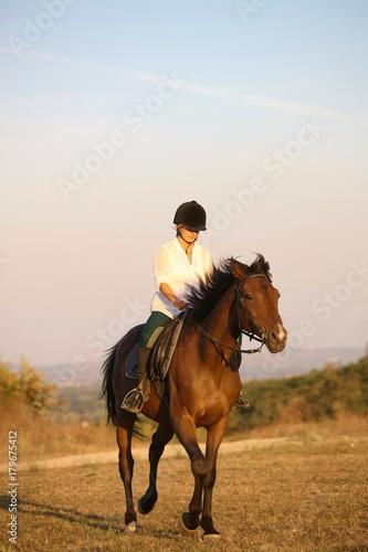 Fotografie, Tablou  Galloping rider