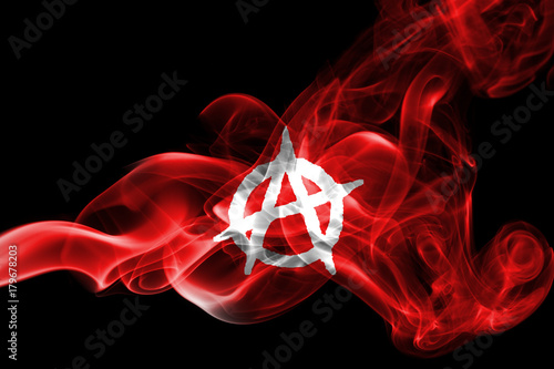 Photo Anarchy smoke flag