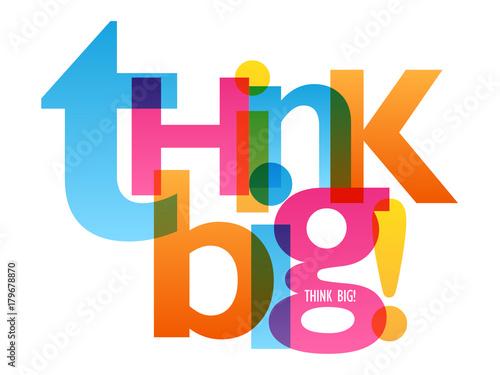 think-big-plakat-typograficzny