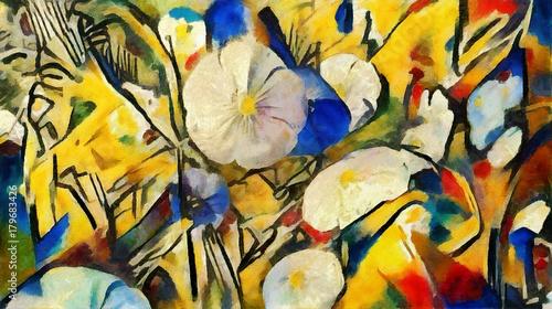 Photo  Garden flowers in the flowerbed