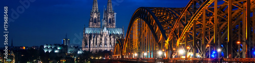 Cologne Cathedral, Germany at night
