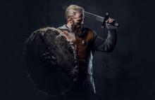 Viking Dressed In Nordic Armor...
