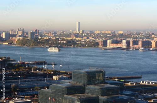 Obraz na dibondzie (fotoboard) Widok z Manhattanu, przez Hudson do New Jersey