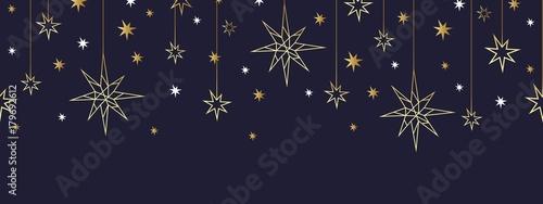Stoffe zum Nähen Weihnachten und Happy New Year gold nahtlose Muster