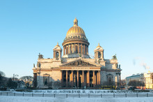 St. Isaac's Cathedral On A Fro...