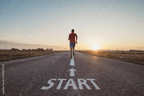 Man running from start