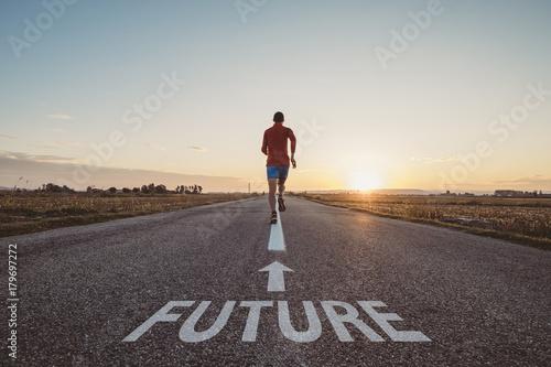 Fotografía  Man running in the future