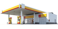 3d Rendering Of A Gas Station ...