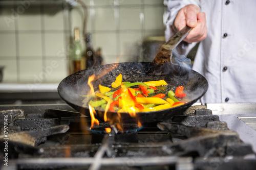 Foto op Aluminium Koken Kochen