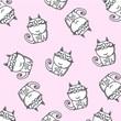animal cartoon cat animals illustration pink