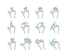 Touchscreen Gesture Icons For ...