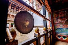Prayer Bell In A Dzong In Paro, Bhutan