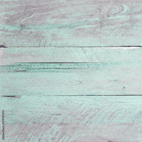 Foto-Tapete - Shabby chic background - wooden timber, scuffed peeling paint & design space. (von EdwardSamuel)