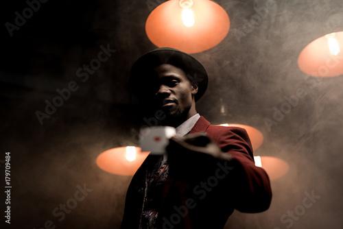 lucky african american man плакат