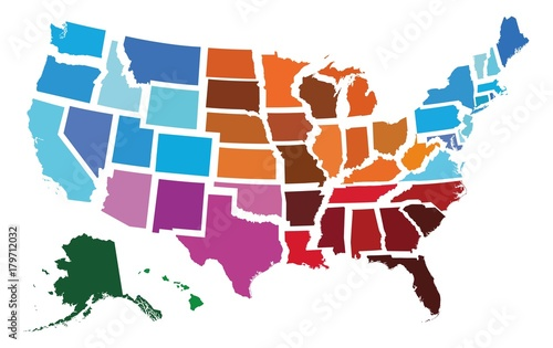 Photo  USA Administrative Regional Map