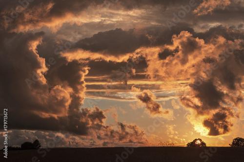 France, Center France, sunset