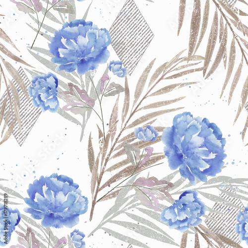 kwiatowy-wzor-niebieskie-kwiaty-na-bialym-tle