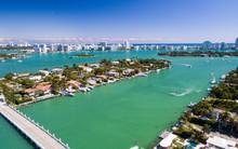 Aerial View Of Miami. Palm Isl...