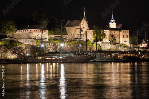 Photo  Akershus Fortress at Night