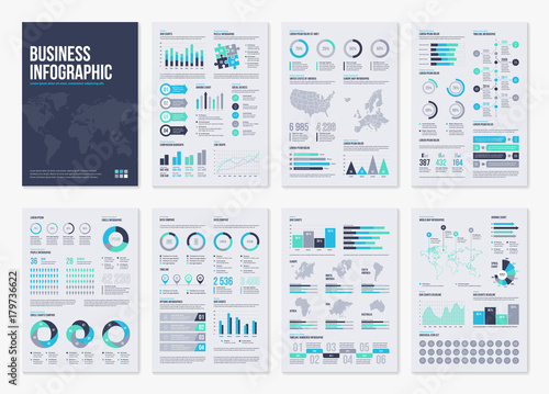 Photo Infographic vector brochure elements for business illustration in modern style
