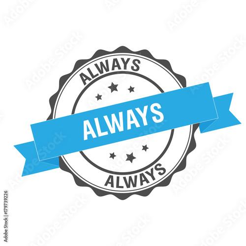 Fotografie, Obraz  Always stamp illustration