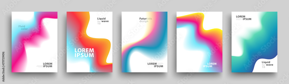 Fototapeta Modern Covers Template Design. Set of Trendy Abstract Gradient shapes for Presentation, Magazines, Flyers, Annual Reports, Posters and Business Cards. Vector EPS 10