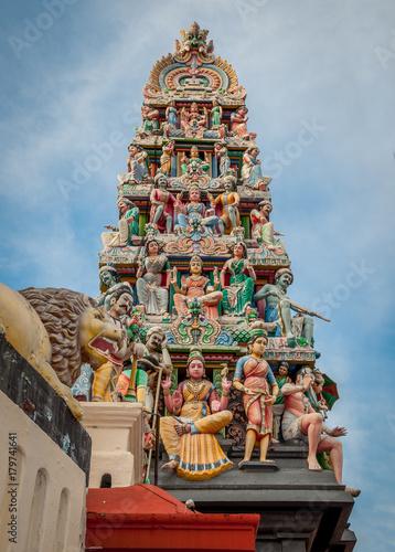 temple hindou de Singapour Poster