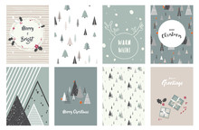 Merry Christmas Cards, Illustr...