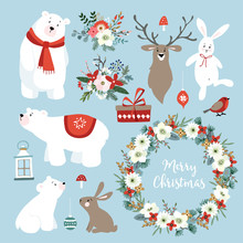 Set Of Cute Christmas Clip-art...