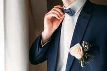 Boutonniere On The Lapel Of Th...