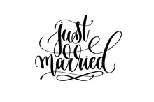 Just Married Hand Lettering In...