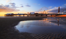 Reflections Of Blackpool Pier ...