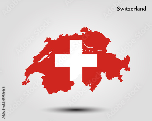 Map of Switzerland Fototapet