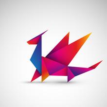 Smok Origami Wektor