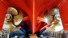 Propeller And Ship Stern At Dr...