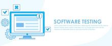 Software Testing Banner. A Com...