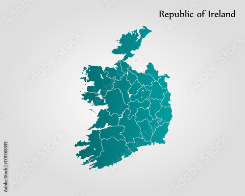 Fotomural Map of Ireland