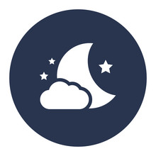 Nighttime Vector Icon