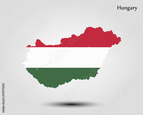Map of Hungary Canvas Print