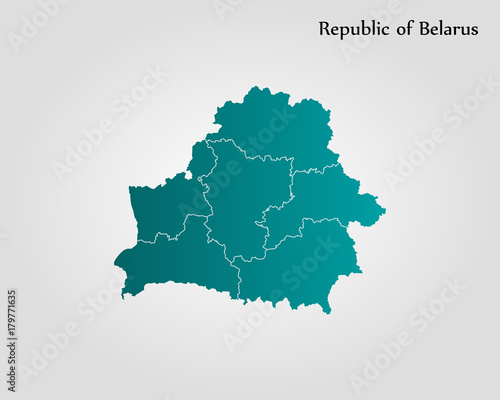 Fotografie, Obraz Map of Belarus