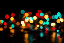 Abstract Bokeh Background Of Different Colors
