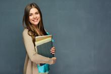 Smiling Girl Student Or Woman Teacher Portrait