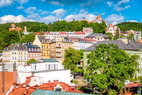 Fotografia View of Karlovy Vary (Carlsbad). Czech Republic